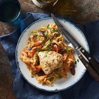 Slow-Cooker Mediterranean Chicken & Orzo.