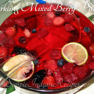 Sparkling Mixed Berry Punch.