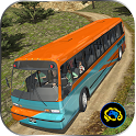 Uphill offroad bus driving sim icon