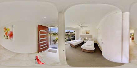 Photo: Luxury Ocean Townhouse - Downstairs Entrance Hall/Third Bedroom/Rumpus Room www.escapeatnobbys.com.au