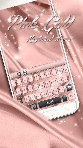 Pink Gold Keyboard Theme 10001004 screenshots 1