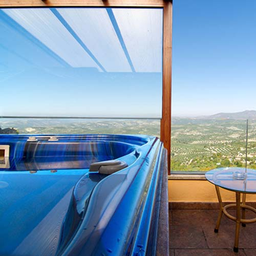 Room with Jacuzzi on the terrace