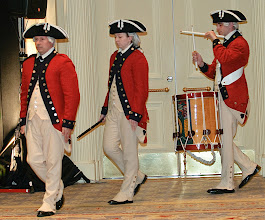 Photo: the Fife and Drum Corps from the Old Guard marches in...