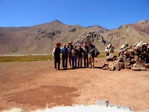 Photo: Exedicionarios y amigos crianceros de Chile, momentos de intercambio cultural, quesos de cabra y mates.