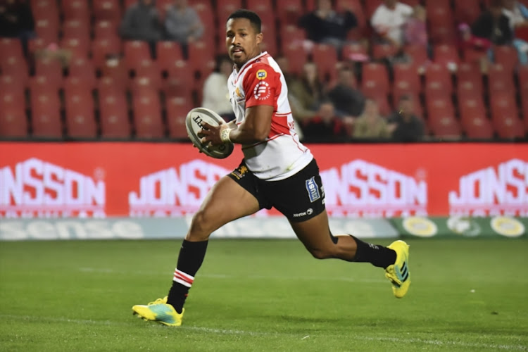 Sylvian Mahuza of the Golden Lions during the Currie Cup match between Xerox Golden Lions XV and Tafel Lager Griquas at Emirates Airline Park on August 24, 2018 in Johannesburg, South Africa.
