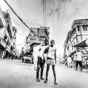 Brothers by Shikhar Sharma - Babies & Children Children Candids ( rag pickers, street, children, childhood, brothers )