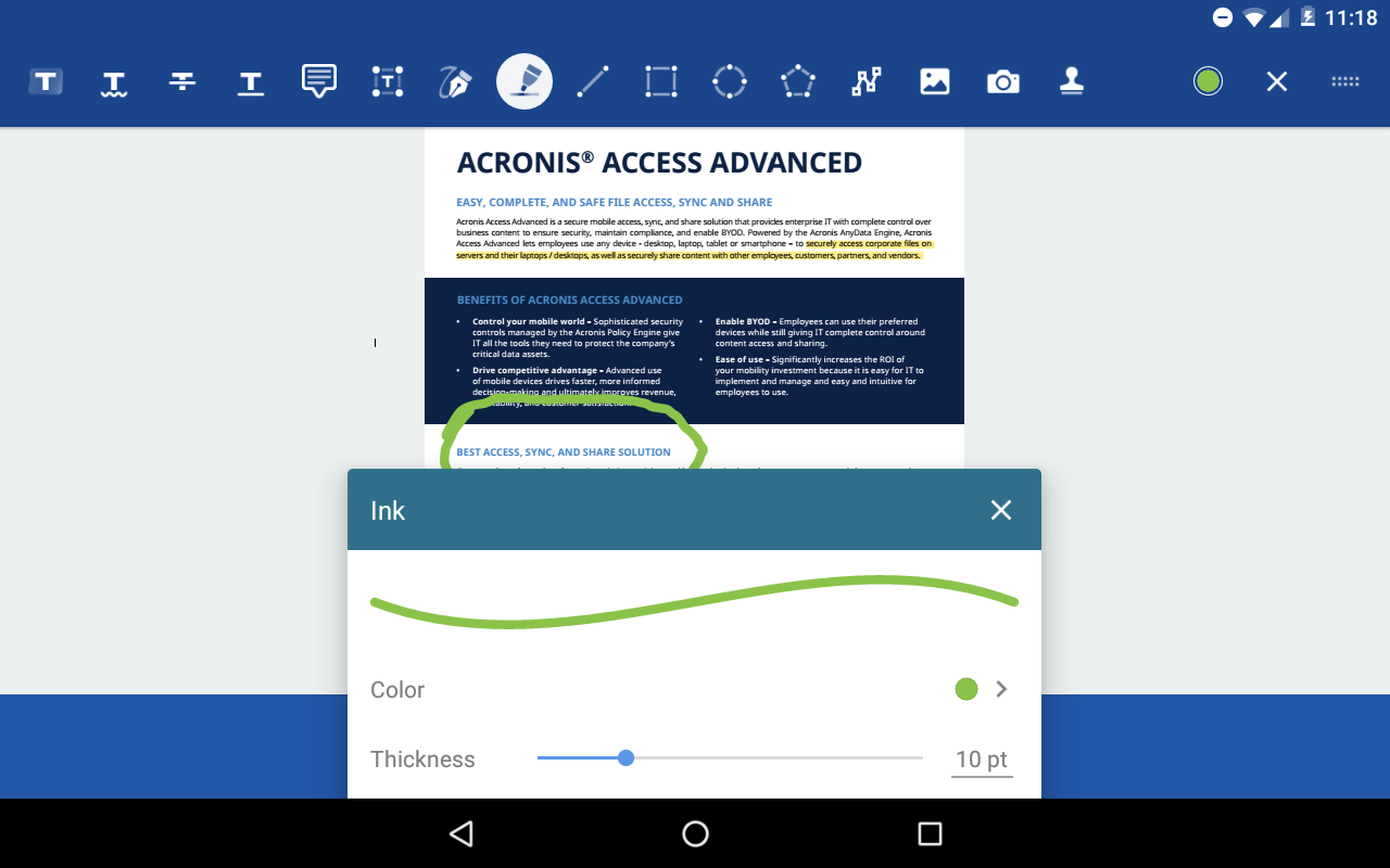 Acronis Access- screenshot