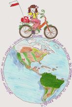 """Photo: praca Oliwii - """" Jeździmy rowerem bo to zdrowe i ekonomiczne. Jeździmy rowerem bo sprawia nam to wielką radość"""""""
