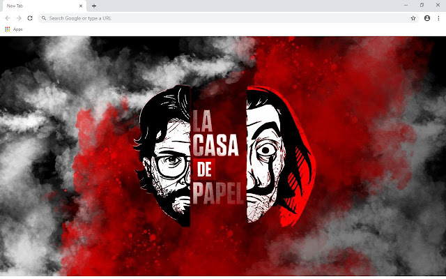 La Casa De Papel Wallpapers and New Tab