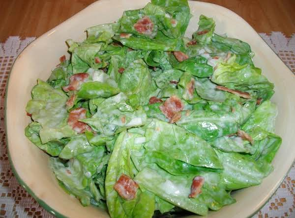 This Salad Was Made With Fresh Romaine Lettuce From Our Garden.