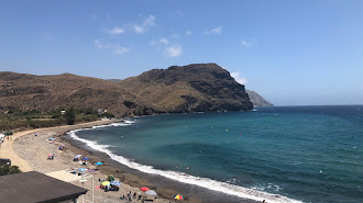 La playa de Las Negras, el pasado día 4, en una imagen de J. M. Bretones.
