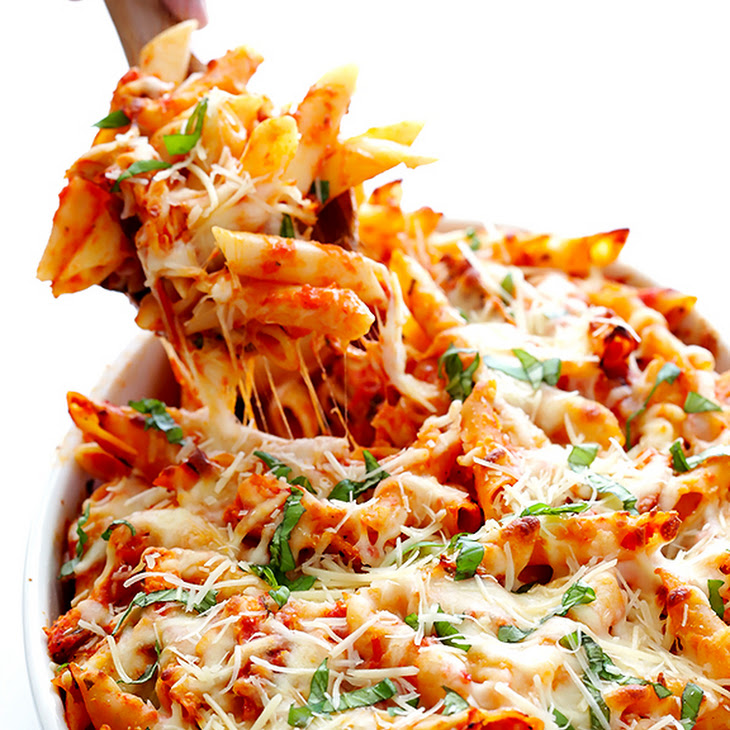 Chicken Parmesan Baked Ziti Recipe