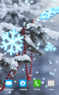 Christmas Snow Live Wallpaper Magic Sound Effects - náhled