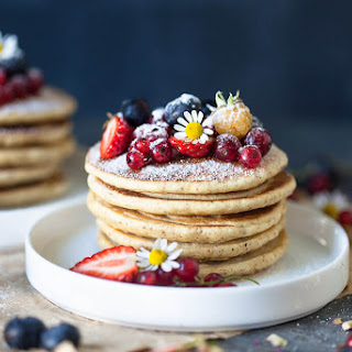 The Softest Almond Oats Pancakes {Dairy-Free} Recipe