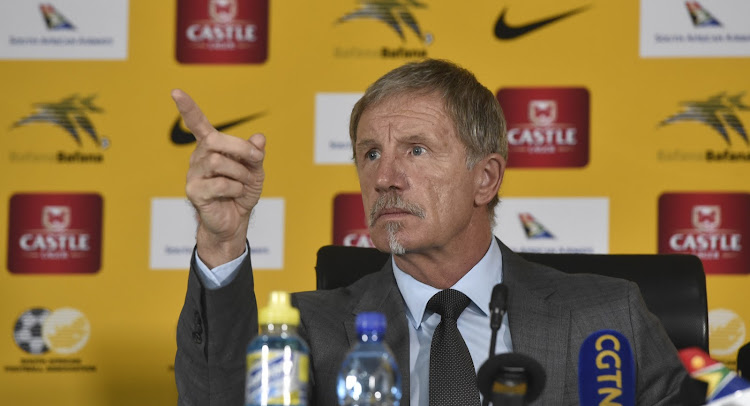 Bafana Bafana head coach Stuart Baxter speaks to the media during his announcement of the squad to take on Libya.