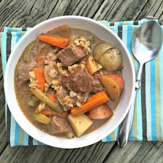 Slow Cooker Beef & Lentil Stew.