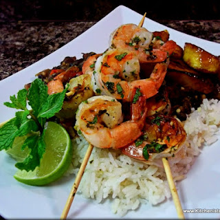 Mojito Shrimp & Coconut Rum Glazed Plantains