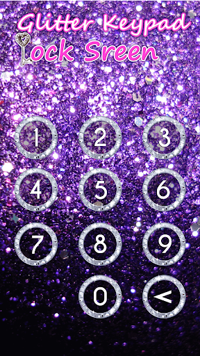 Glitter Keypad Lock Screen 5.0 screenshots 5