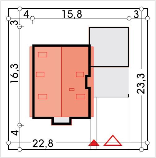 Vito wersja B2 podwójny garaż - Sytuacja