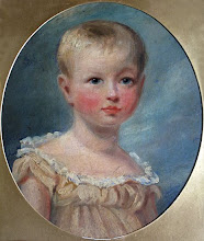 Photo: Wallace's daughter Violet in the 1870's. This is a photograph of an oil painting owned by the Wallace family. Painter: Unknown. Photographed with permission from the Wallace family. Copyright of photo: G. W. Beccaloni.
