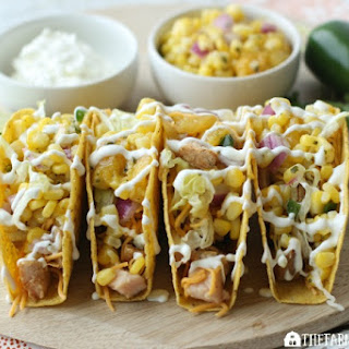 Grilled Pork Tacos With Corn And Mango Salsa.