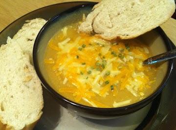 Golden Potato And Cauliflower Soup Recipe