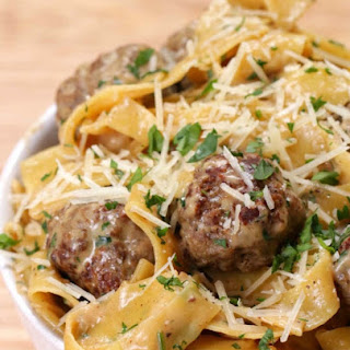 One Pot Swedish Meatball Pasta