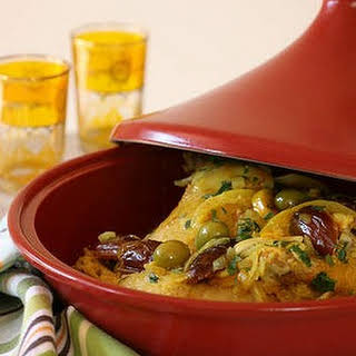 Chicken Tagine With Fresh Dates And Lemons.