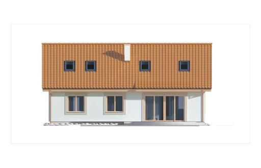 Gienia II Klasyk wersja A bez garażu - Elewacja tylna