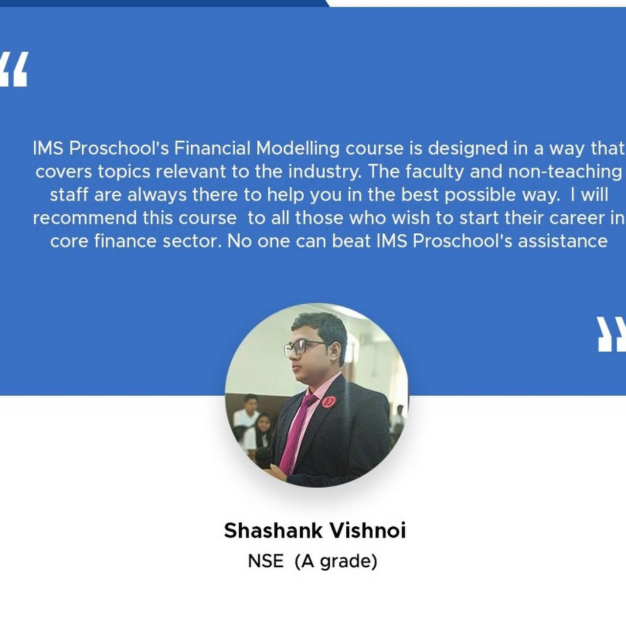 IMS Proschool Delhi, Preet Vihar: Course on CIMA ACCA CFA