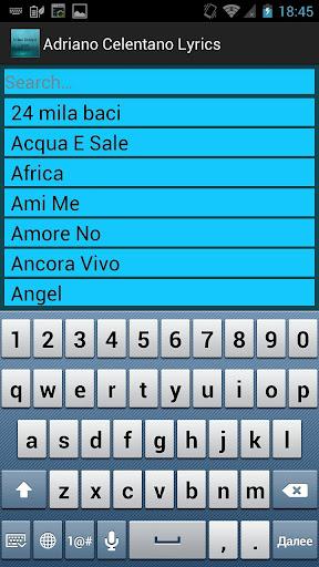 Adriano celentano songs texts