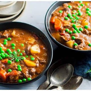 Pressure Cooker Lamb Stew.