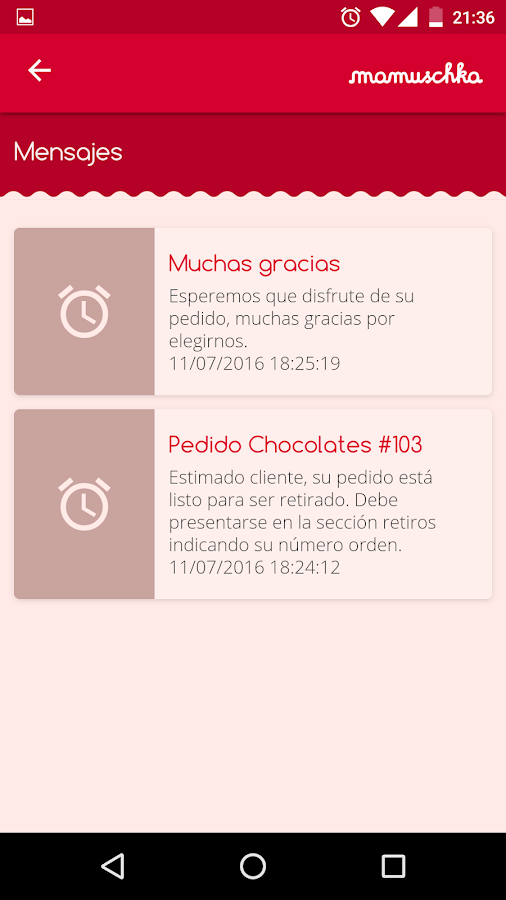 Mamuschka Chocolates- screenshot