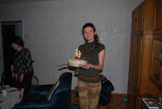 Photo: 10. 01. 2011 roku -  Monika wkroczyła  z pięknym  tortem
