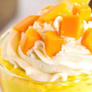 No Bake Mango Cheesecake Trifles.
