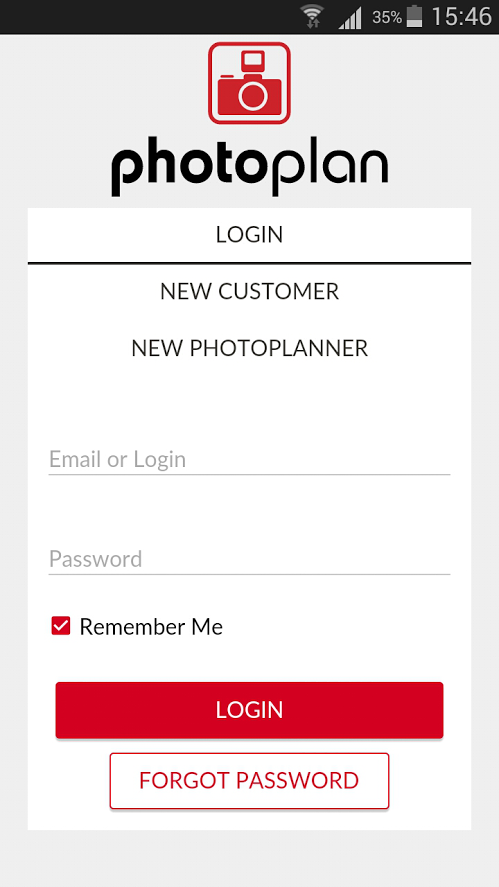 Photoplan Bookings- screenshot