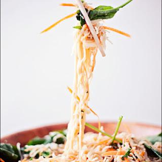 Vegan Sesame Ginger Salad Stir Fry – House Foods Tofu Shirataki Noodles – Low Fat Spaghetti.