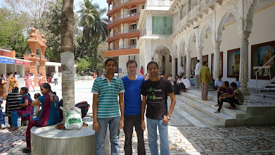 Photo: Ashish, myself, Adarsh outside of ISKCON Temple.  They're twins, if it's not obvious.  Great stories of the confusion is caused during childhood, school, etc.