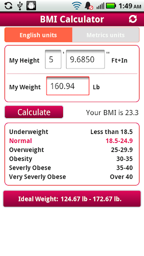BMI Calculator Droid