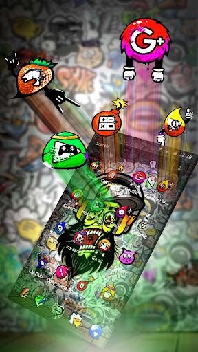 Graffiti Music Skull Theme screenshots 3