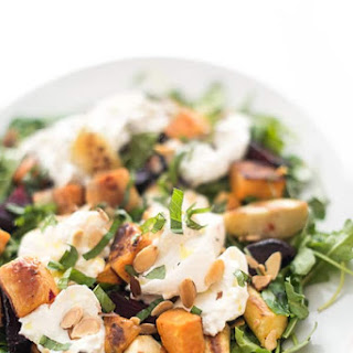 Roasted Root Vegetable Burrata Salad.