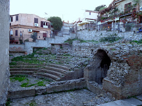 Photo: In a back street not far away, a mini version - the Roman equivalent of a flea-pit theatre