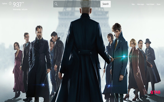 Fantastic Beasts Wallpapers Theme New Tab