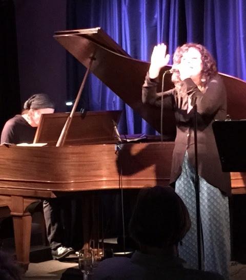 singer-poet Lisa B (Lisa Bernstein) with Frank Martin