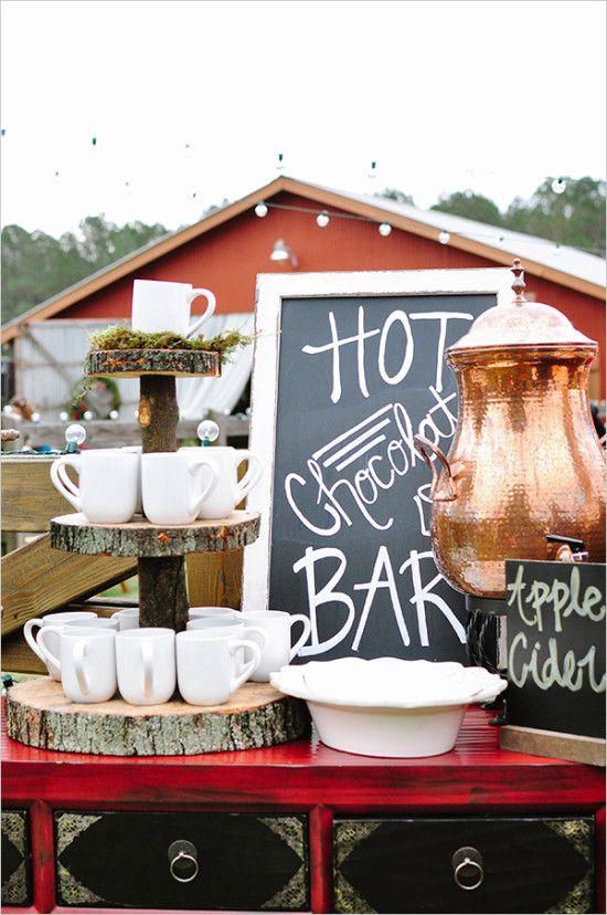 wedding hot chocolate bar