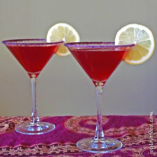 Pomegranate Limoncello Martinis.