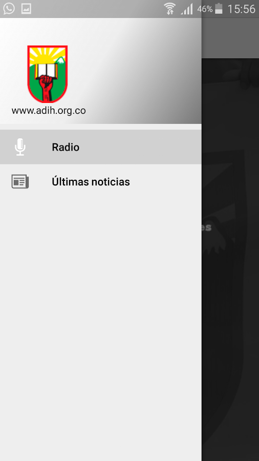 Radio ADIH: captura de pantalla