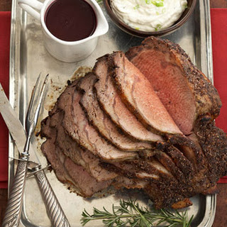 Herbed Prime Rib with Two Sauces