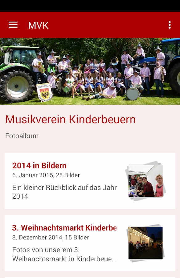Musikverein Kinderbeuern- screenshot