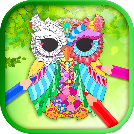 Owls Relax Coloring Book for Adults PRO